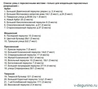 15 марта в ЦАО Москвы появилось 95 парковочных мест только для владельцев парковочных разрешений - 15.03.2016-Резидентские-пар.jpg
